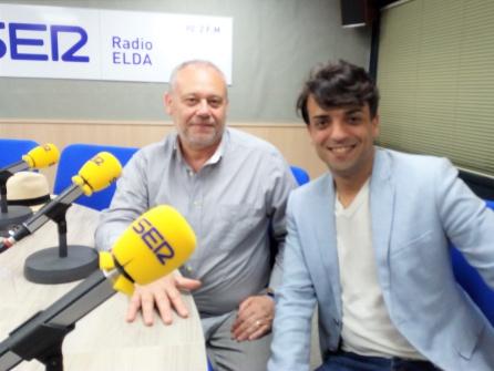 El actor eldense y el director del Teatro Castelar en el programa Vinalopó Hoy por Hoy