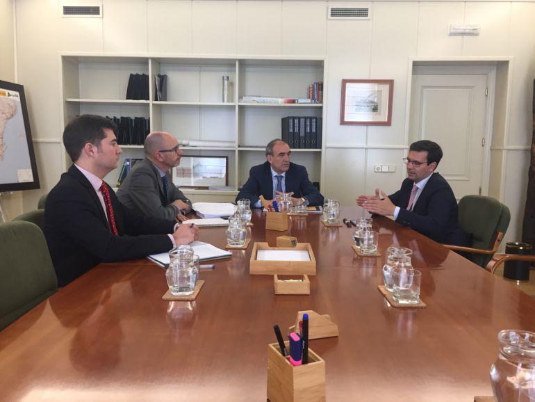 Cuenca, durante la reunión con representantes del CGPJ.