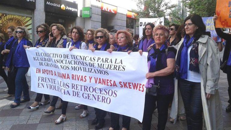 Apoyo en la Puerta del Sol de Madrid a Juana Rivas.