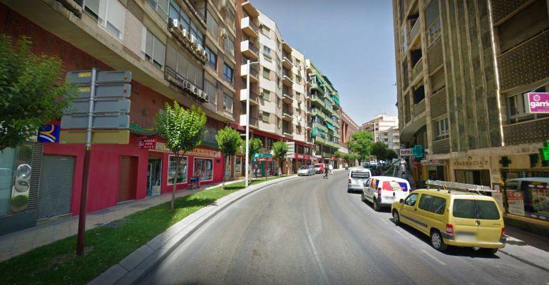 Avenida Ejército Español donde fue sorprendido el detenido.