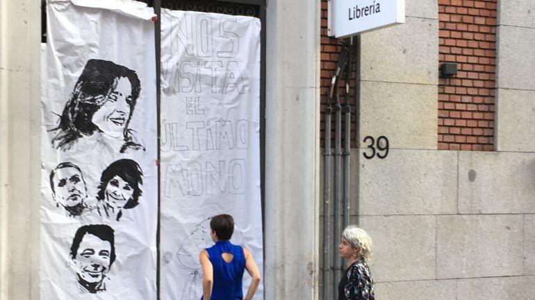 La Ingobernable, en la calle del Gobernador 39 de Madrid, este jueves.