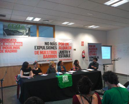 Presentación del Sindicato de Inquilinas el pasado viernes 12 de mayo.