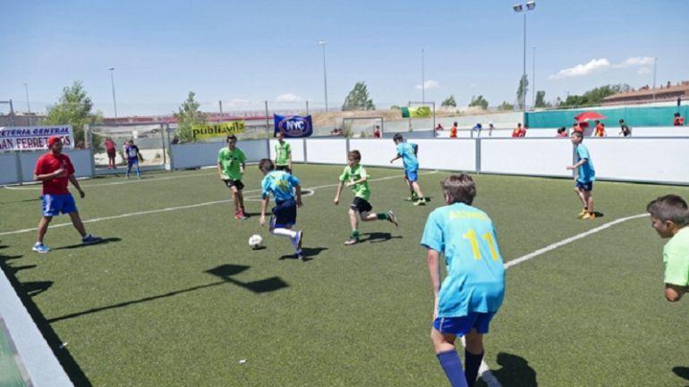 Participantes en una de las ediciones del Maratón de Fútbol Sala