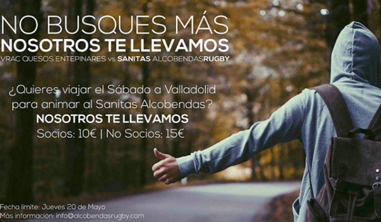 Viaje para animar al Sanitas Alcobendas Rugby en la semifinal en Valladolid
