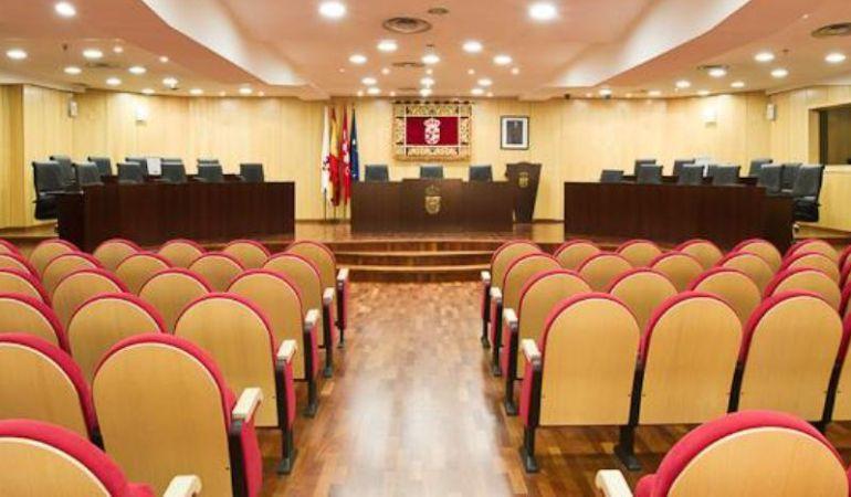 Interior del salón de Plenos del Ayuntamiento de Pinto