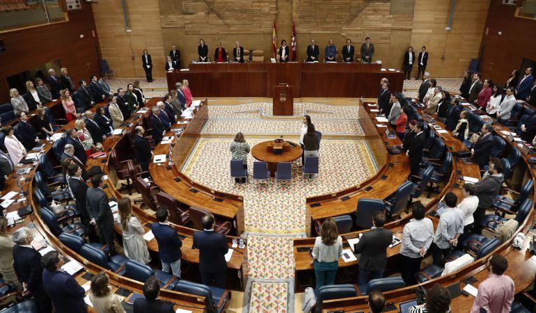 Momento del pleno de la Asamblea en el que también se ha debatido la situación de Parla