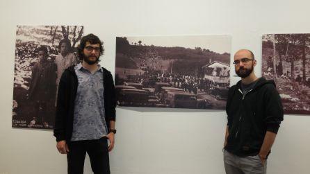 Gorka López de Munain y Ander Gondra, comisarios de la muestra