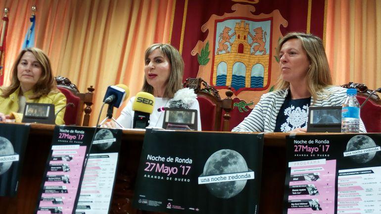Celia Bombín, Azucena Esteban y María Ángeles Marín, concejales arandinas