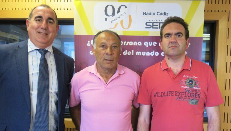 Álvaro Illesca, Paco Baena y Lolo Gámez, en el Doctorado Honoris Cádiz
