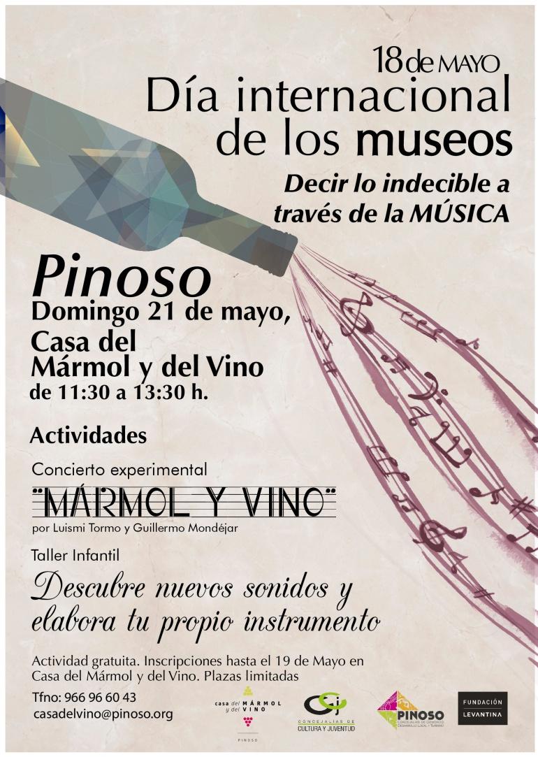 """Bajo el título """"Decir lo indecible a través de la música"""" en el Centro de Interpretación Casa del Mármol y del Vino se celebra el Día internacional de los Museos"""