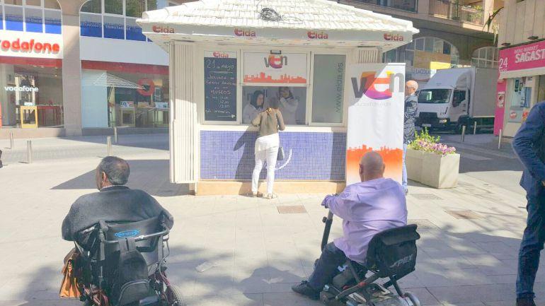 Abierto el punto de información de la Plaza Sagasta