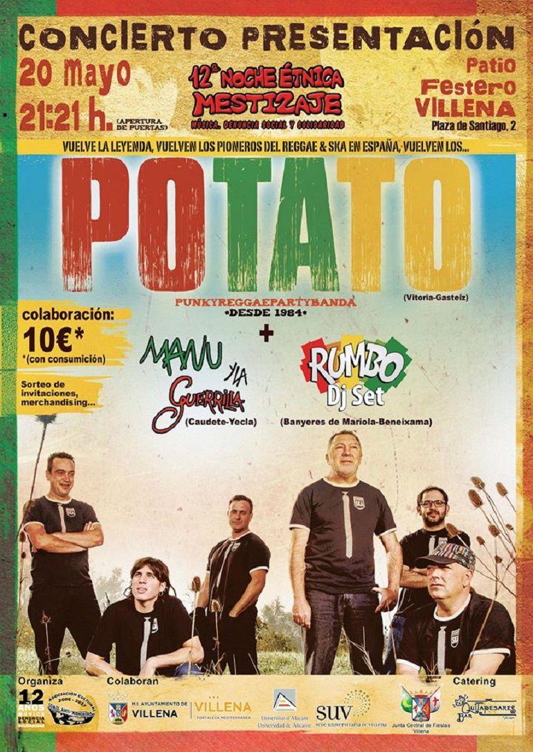 Este sábado POTATO en Villena