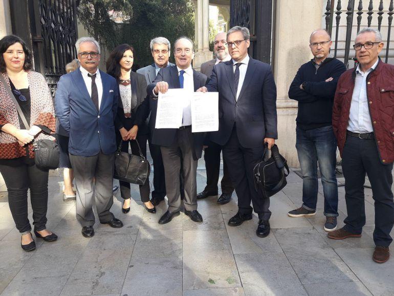Miembros de la plataforma Juntos por Granada.