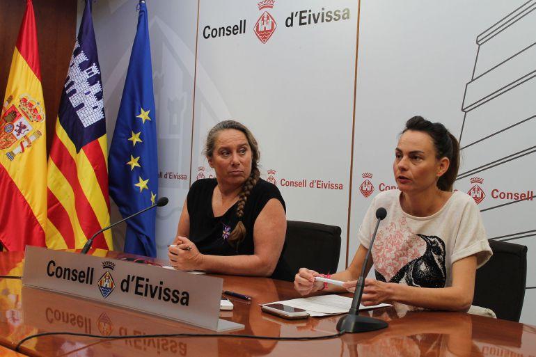 Viviana de Sans y Lydia Jurado en rueda de prensa