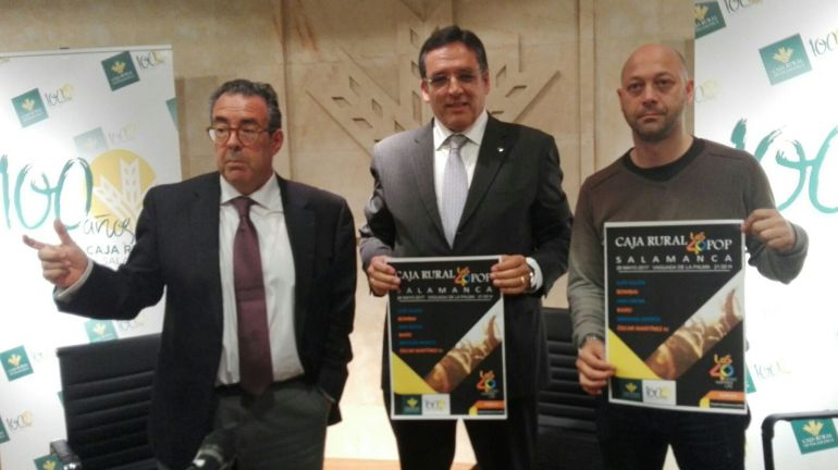 Santiago Juanes, Agustín Pérez y Ramón Vicente.