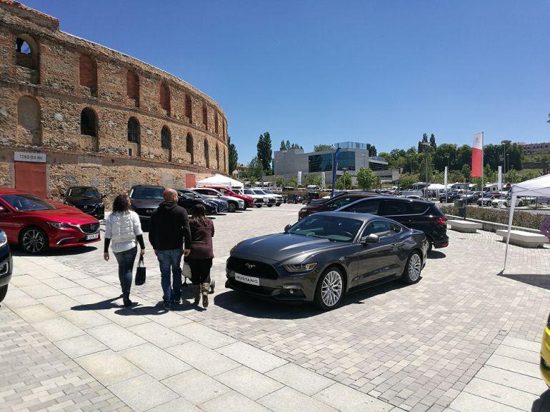 Feria del Automóvil de Segovia en la Plaza Mayor