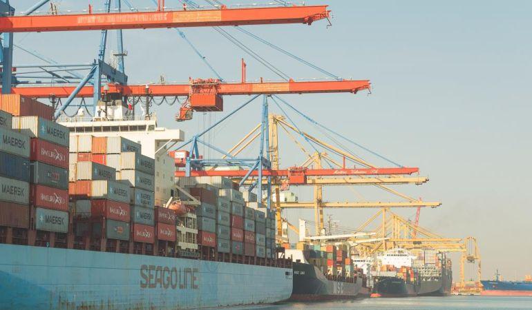 Imagen reciente del puerto de Valencia