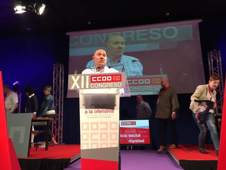 Manuel PIna durante el discurso tras la elección