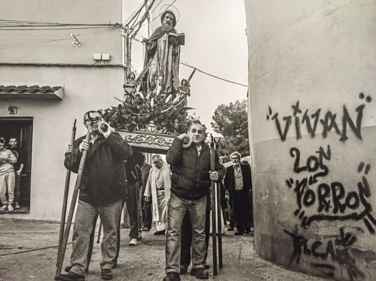 Procesión de San Antón en Cuenca, 2015.