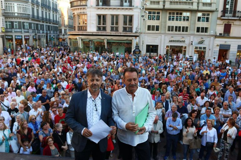 Los dos promotores de la concentración en Málaga a favor de Antonio Banderas