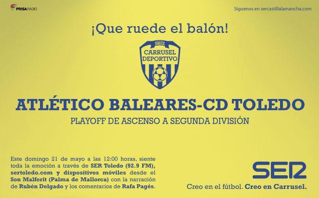 Atlético Baleares-Toledo: comienza una eliminatoria sin favoritos