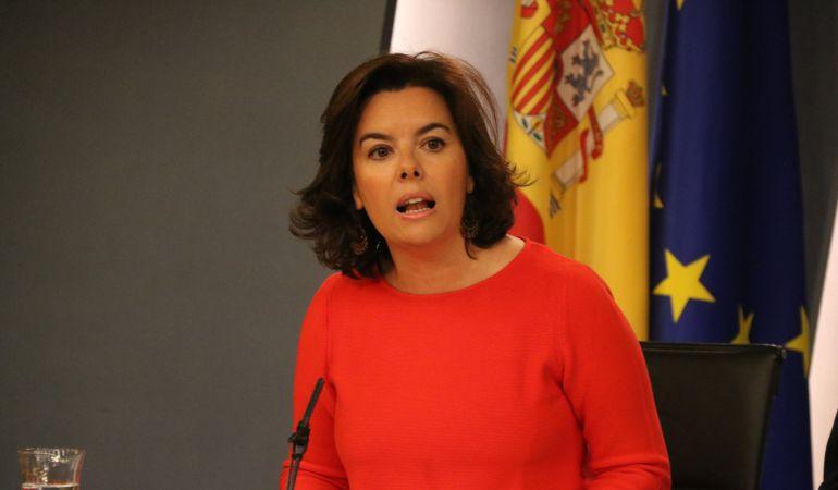 La vicepresidenta del govern espanyol, Soraya Sáenz de Sanatamaría