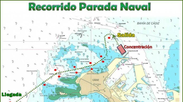 El recorrido de la Parada Naval Flota de Indias, pospuesta al 28 de junio por el levante