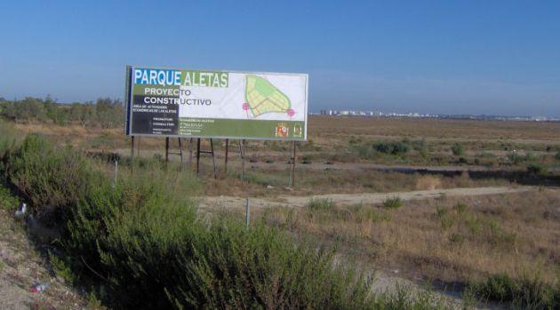 Cartel explicativo en Las Aletas