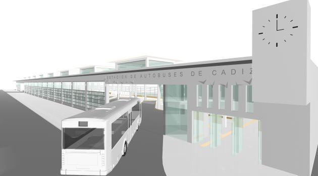 Diseño de la estación de autobuses de Cádiz