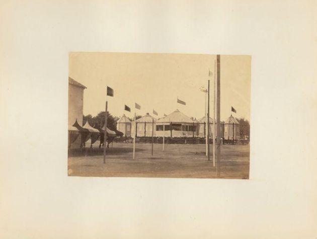 Caseta Real en la feria de 1862 en el Paseo de la Victoria