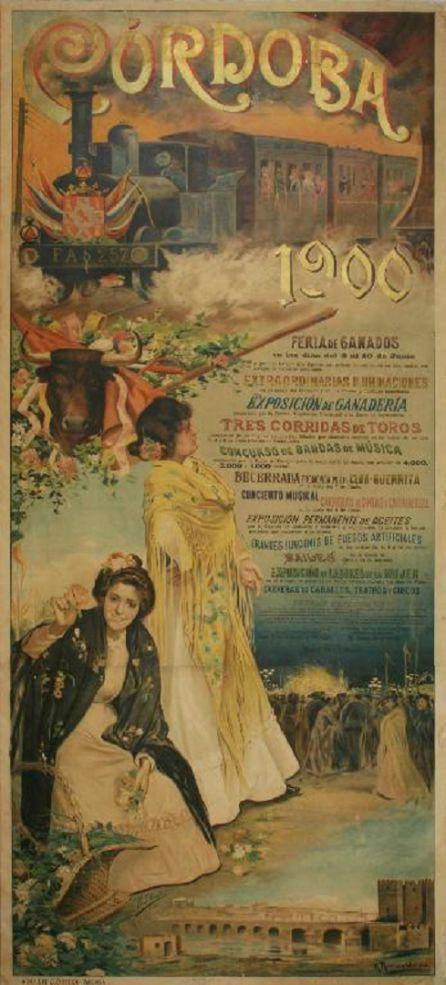 Cartel anunciado de la Feria de Córdoba del año 1900