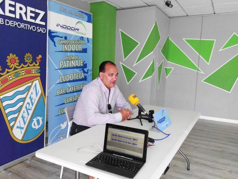 Vicente vargas durante la rueda de prenssa del viernes en Indoor Jerez
