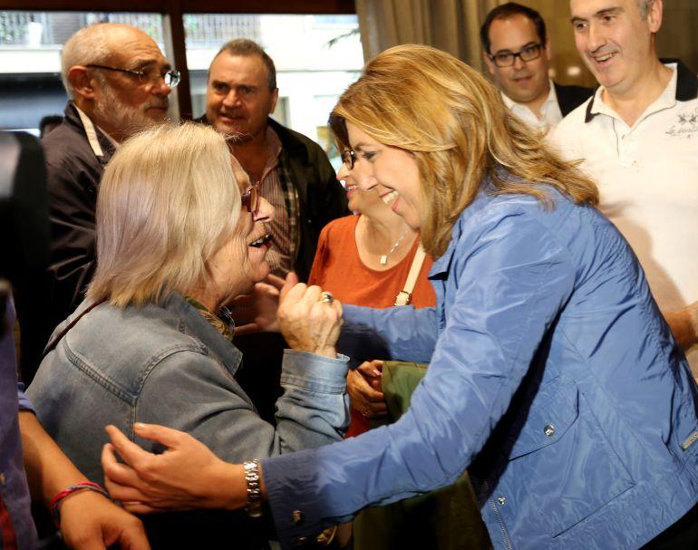 Susana Díaz en su reciente visita a Valladolid