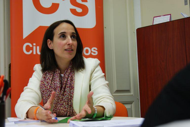 Pilar Vicente, portavoz de Ciudadanos en el Ayuntamiento de Valladolid