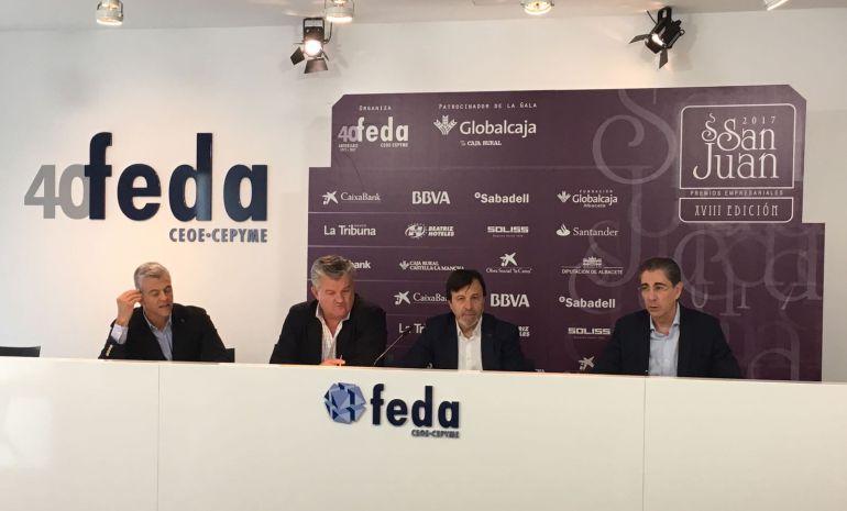 Rueda de prensa donde se ha dado a conocer el fallo de los Premios San Juan de FEDA