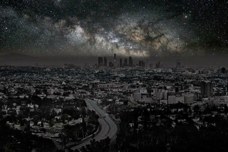 Los Ángeles y la Vía Láctea