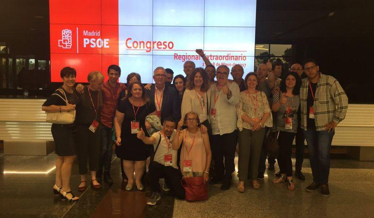 Delegación del PSOE de Alcorcón en el Congreso del PSOE-M. Llevará 2 delegados al Congreso Federal.
