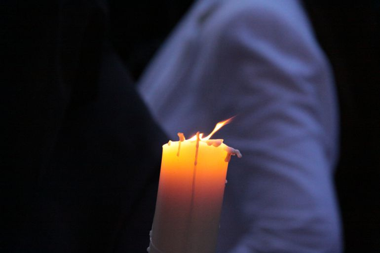 Cirio en una procesión de Granada