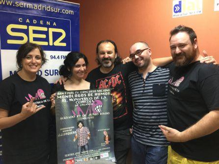 De izquierda a derecha, 'Ángela del Infierno', Dianela Padrón, David Cesar 'El cómico heavy', Marc Berlín y Alber Vil