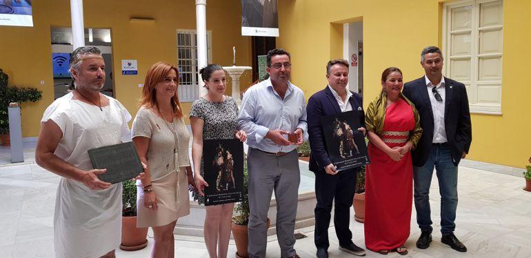 Presentación de las jornadas romanas de Salar (Granada) en la sede del Patronato Provincial de Turismo