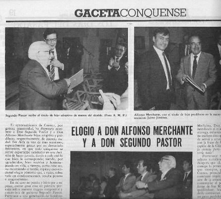 Noticia en la 'Gaceta Conquense'.