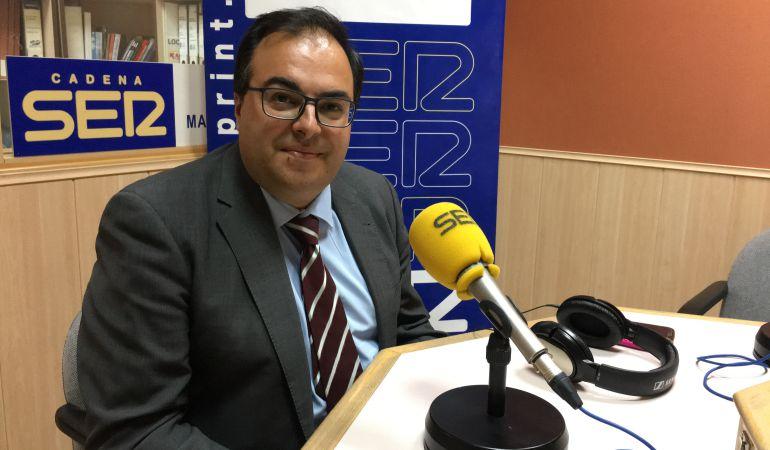 Santiago Llorente (PSOE), durante un momento de la entrevista