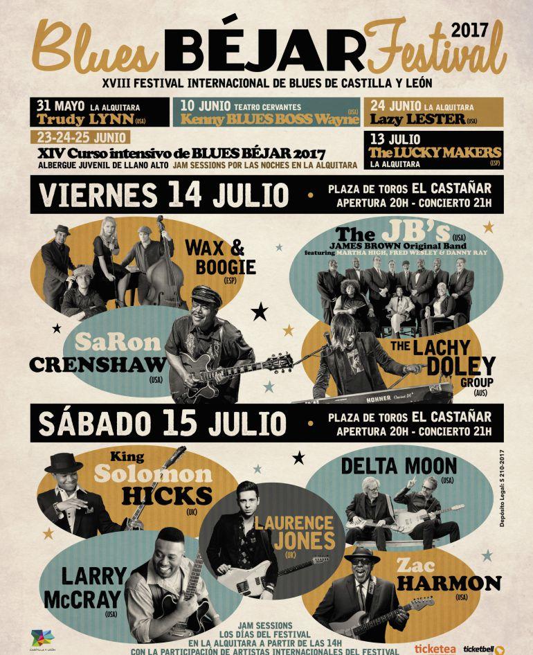 Cartel promocional del blues de Béjar 2017