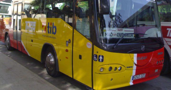 Crece el n mero de usuarios del transporte p blico en - Transportes menorca ...