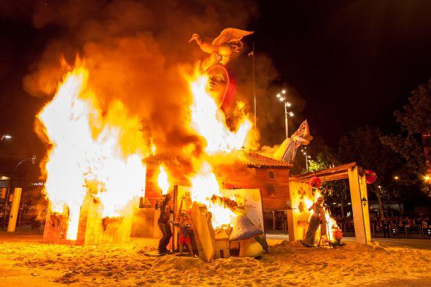 Las fiestas de Getafe concluyen con la tradicional quema de la chamá