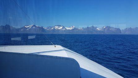 Las Lofoten desde el ferry de Bodo a Moskenes