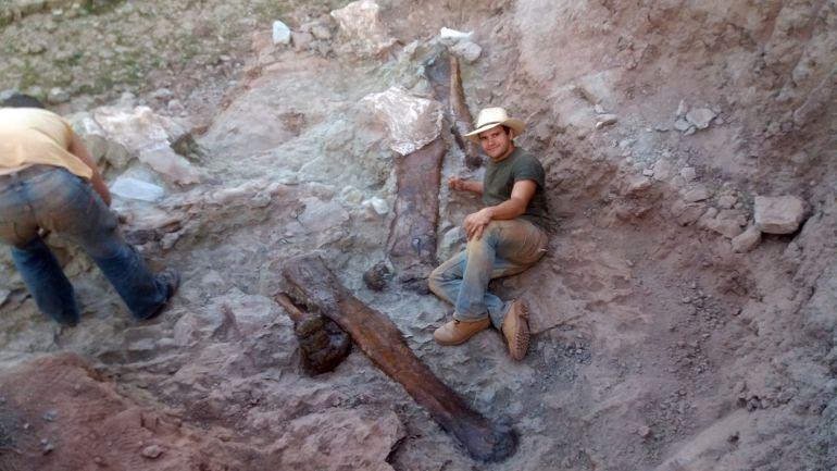 Hallazgo de huesos de dinosaurios en el Mas de Romeu de Morella