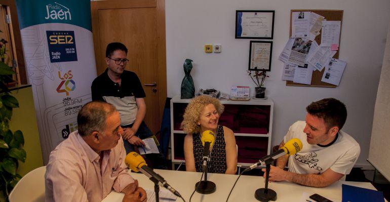 Un momento de la emisión del programa 'Tras los pasos de Miguel Hernández' desde Quesada.