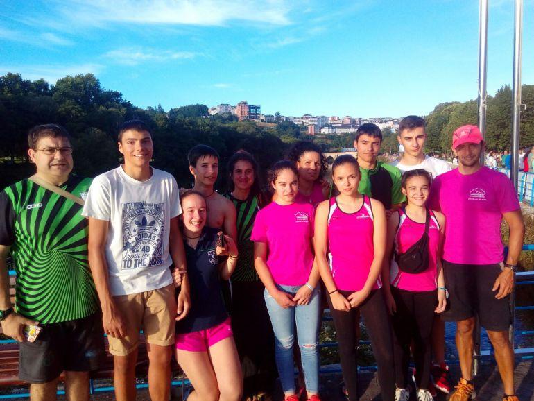 Deportistas ourensanos, en el descenso del Río Miño en Lugo, donde dominaron en sus categorías el descenso