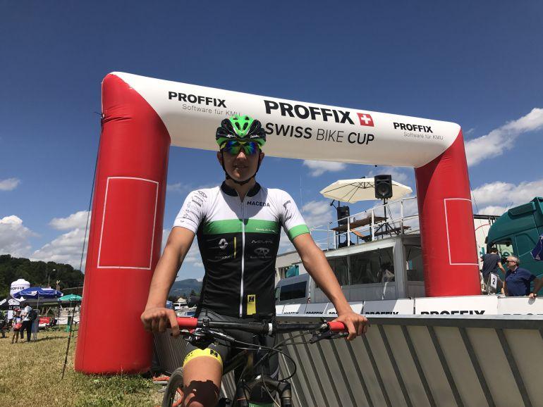 Iván Feijóo, no tenía el día en Suiza, en las UCI Junior Series